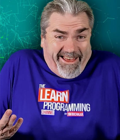 Tim Buchalka Learn Programming Shirt